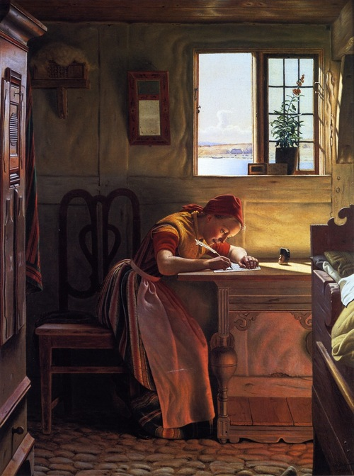 Christen Dalsgaard - Young Girl Writing
