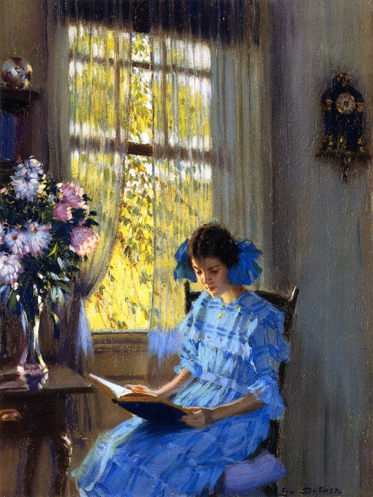 Edward Dufner - Margaret by the window (1915)