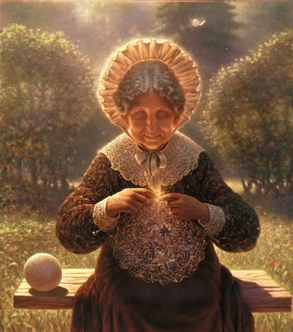 Edward Pustovoitov - The Lacemaker, 1998