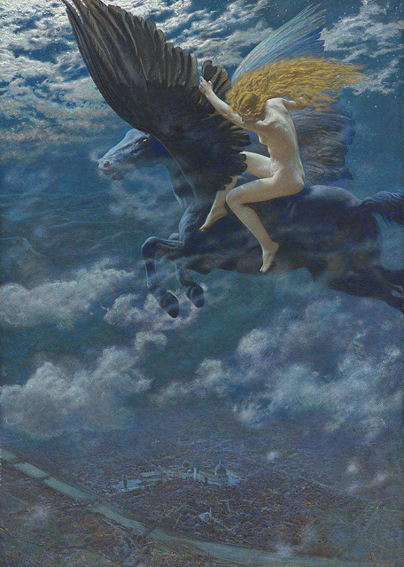 Edward Robert Hughes - Dream Idyll (A Valkyrie)