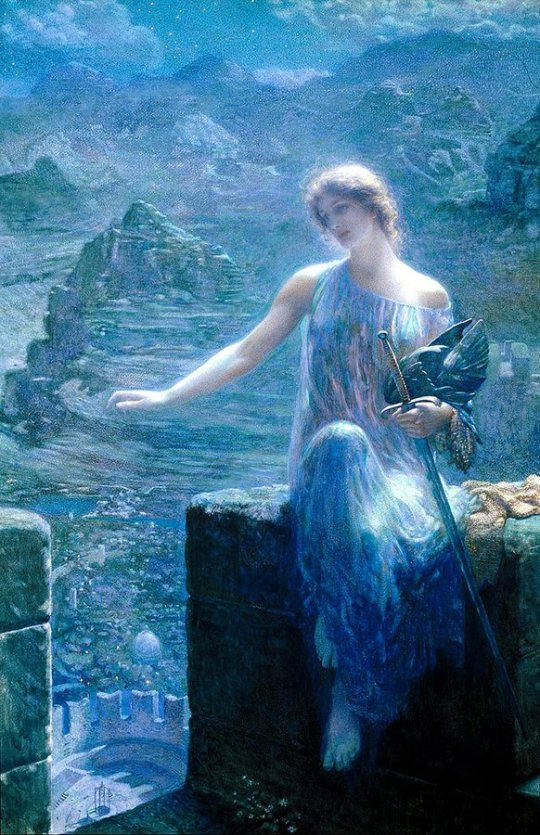 Edward Robert Hughes The Valkyrie's Vigil