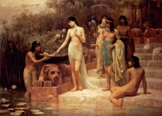 Edwin Longsden Long - Pharaoh's Daughter Finding Moses
