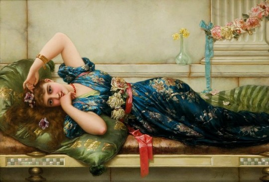 Emile Eisman-Semenowsky(1857–1911) - Relaxation