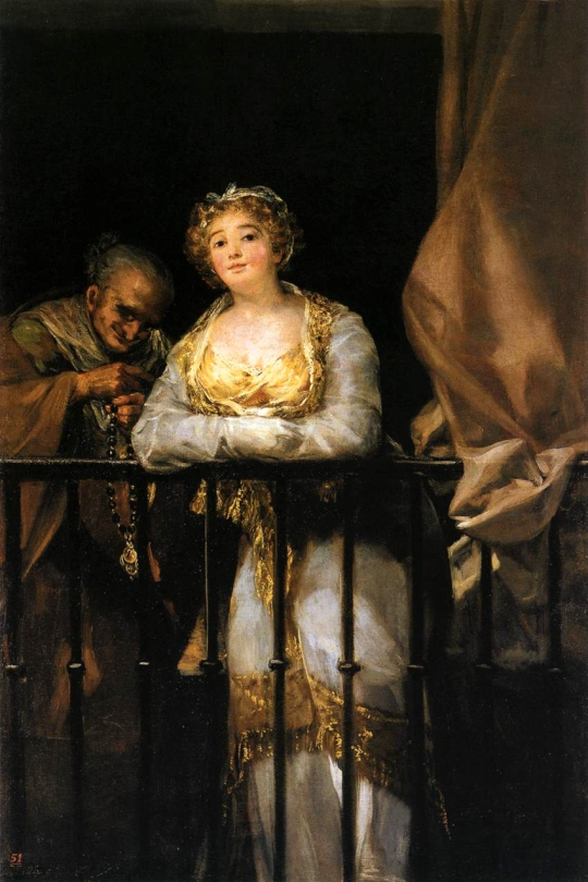 Francisco de Goya - Maja-and-celestina-on-a-balcony-1812
