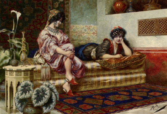 Franz VON DEFREGGER (1835-1921) Idle Hours in the Harem