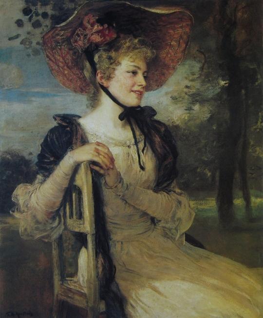 Friedrich August von Kaulbach Bildnis einer jungen Frau. 1900