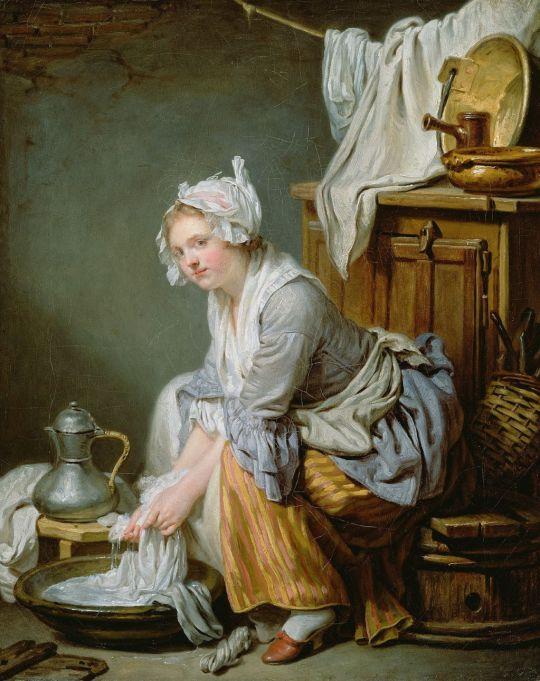 Greuze Jean-Baptiste (1725 - 1805) - Washerwoman