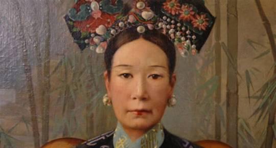Hubert Vos, Dowager Empress Cixi, 1905 - detaliu