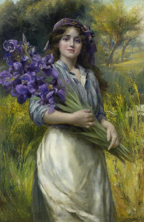 Iris - ~ Norman Prescott-Davies ~ 1880 - 1910