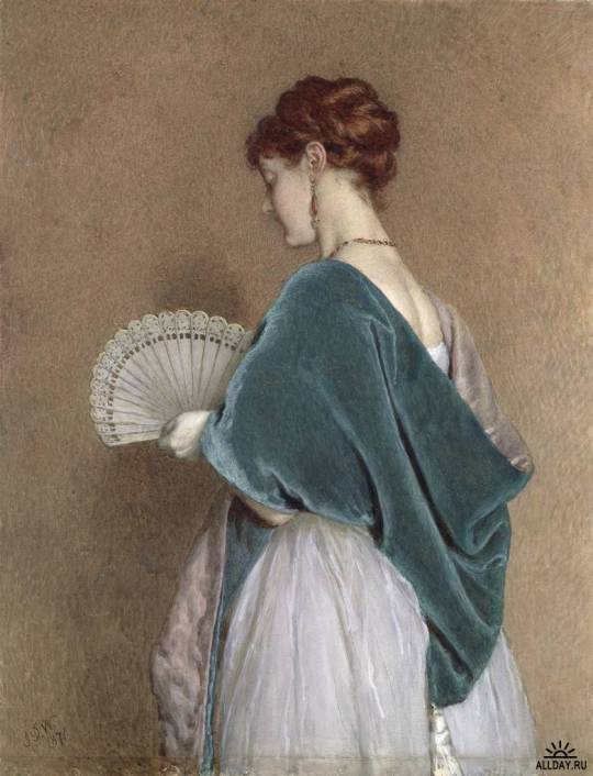 John Dawson Watson (1832-1892)  - woman-with-a-fan-1871