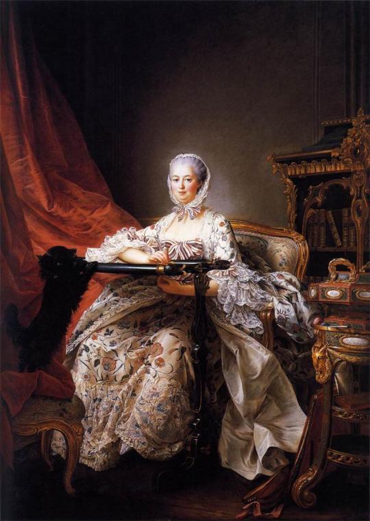 Madame de Pompadour. DROUAIS Franзois-Hubert 1763-64.