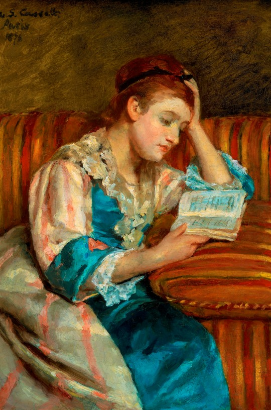 mary_stevenson_cassatt_mrs._duffee_seated_on_a_striped_sofa_reading_WEB