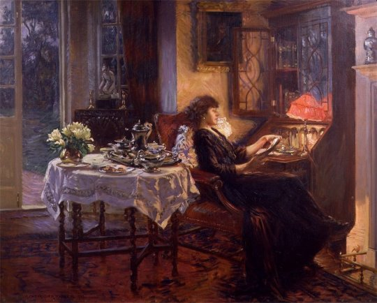 Pavel Svedomsky(1849 - 1904) - The Quiet Hour, 1913