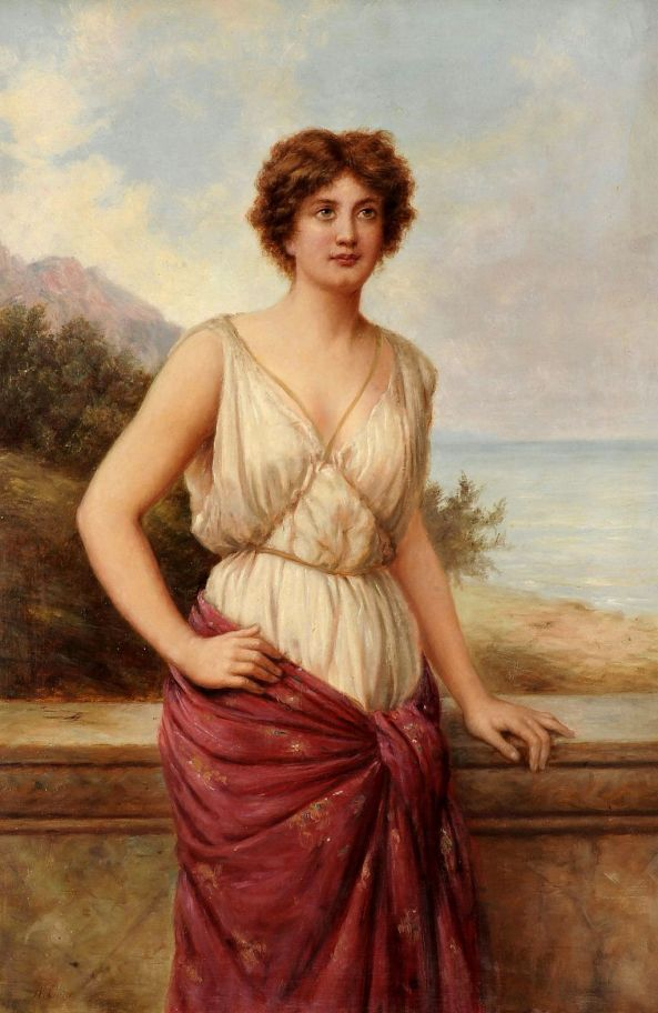 Portrait Of A Grecian Or Roman Beauty - William Oliver