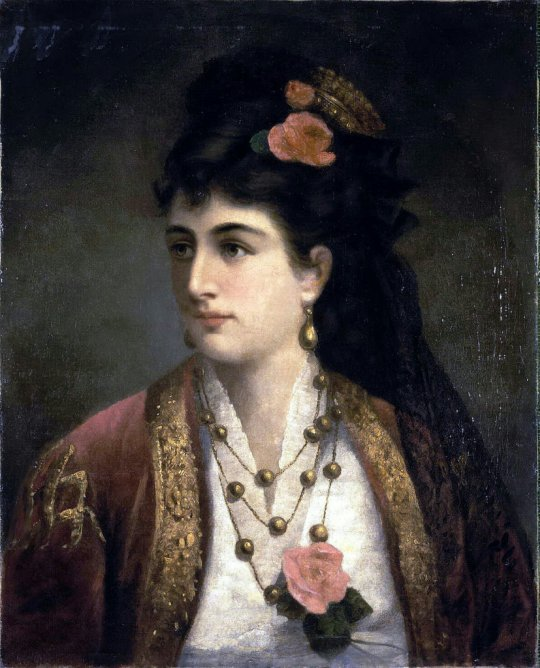 Richet, Adele - Portrait of Queen Natalia Serbian Obrenovic
