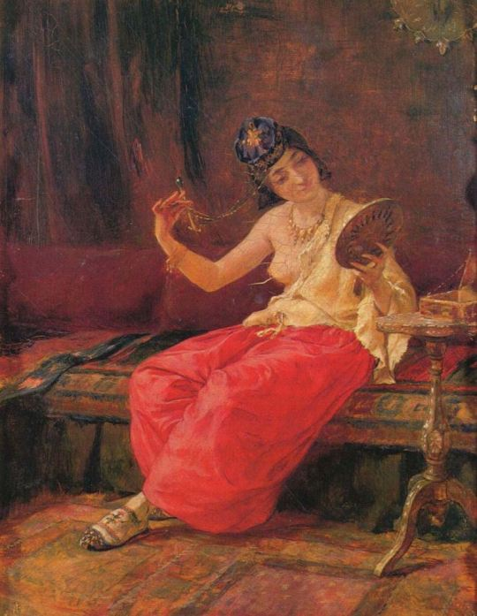 symeon-savvidis-tokat-turkey-1859-1927-oriental-woman-with-mirror