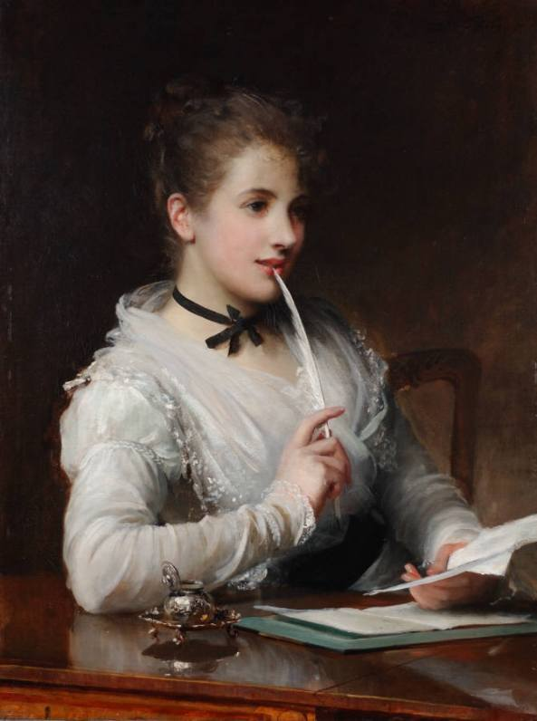 The Love Letter - ~ Samuel Luke Fildes ~ 1843 - 1927.