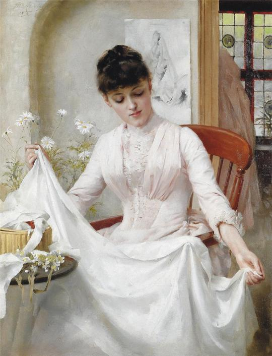 Thomas Benjamin Kennington - The Wedding Dress, 1889