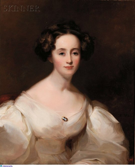 Thomas Sully (1783-1872) Portrait of Ellen Shepherd Brooks - 0
