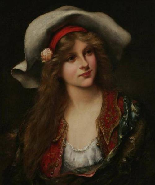 tumblr_mee7hfVTmr1rv2dfko1_500.jpgFrancois Martin - Kavel  - Young Beauty with Floppy Hat