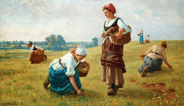 William Banks Fortescue - Cowslip Gatherers 1884