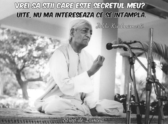 Secretul lui Jiddu Krishnamurti