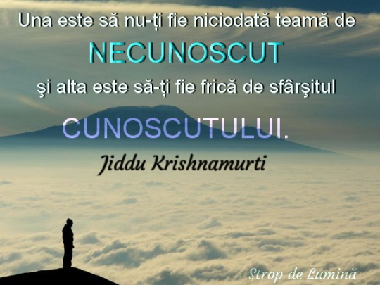 Cunoscut si necunoscut - Jiddu